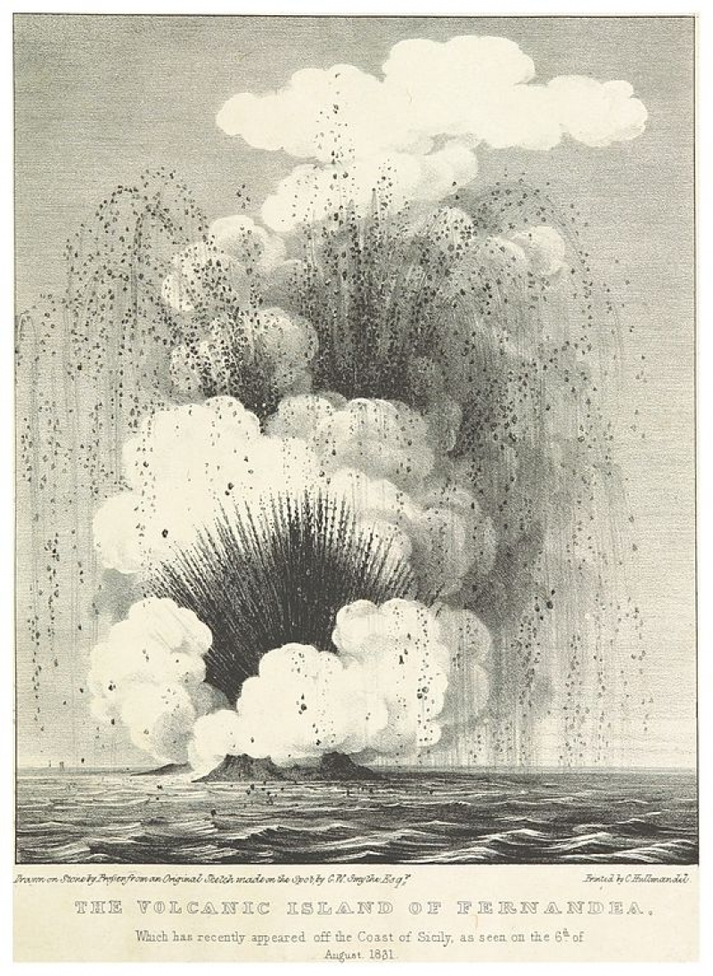 Image extracted from page 21 of Views and Description of the late Volcanic Island off the coast of Sicily